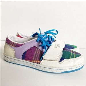 Creative Recreation Plaid Print White Sneakers